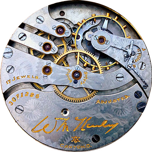 Hampden Grade Wm. McKinley Pocket Watch Movement