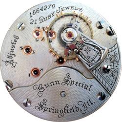 Illinois Pocket Watch Grade Bunn Special #1383408