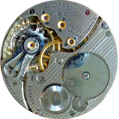 South Bend Grade 207 Pocket Watch Movement
