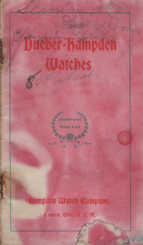 Dueber Hampden Watches: Illustrated Price List Cover Image