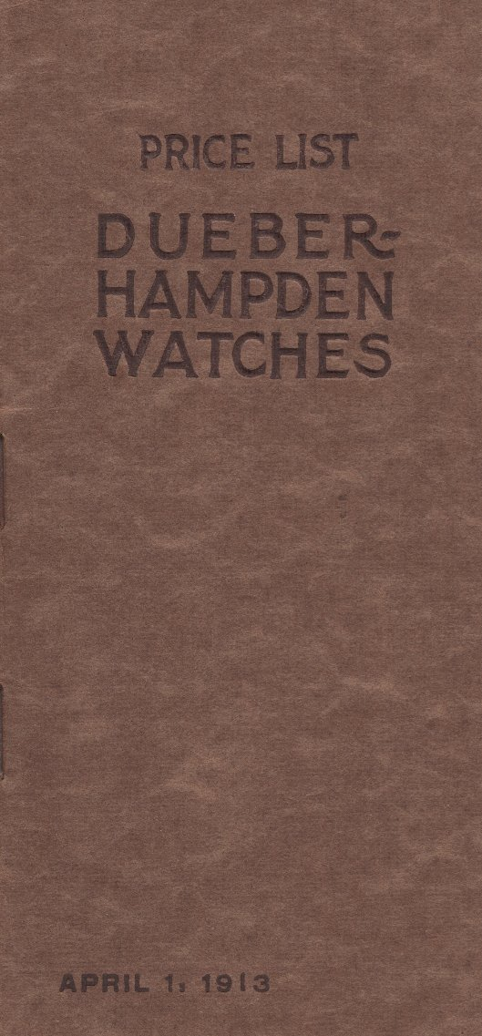 Dueber-Hampden Watches Price List (1913) Cover Image