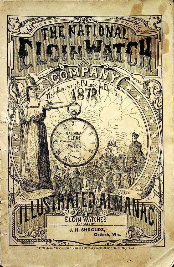 National Watch Co. Elgin Almanac 1872 Cover Image