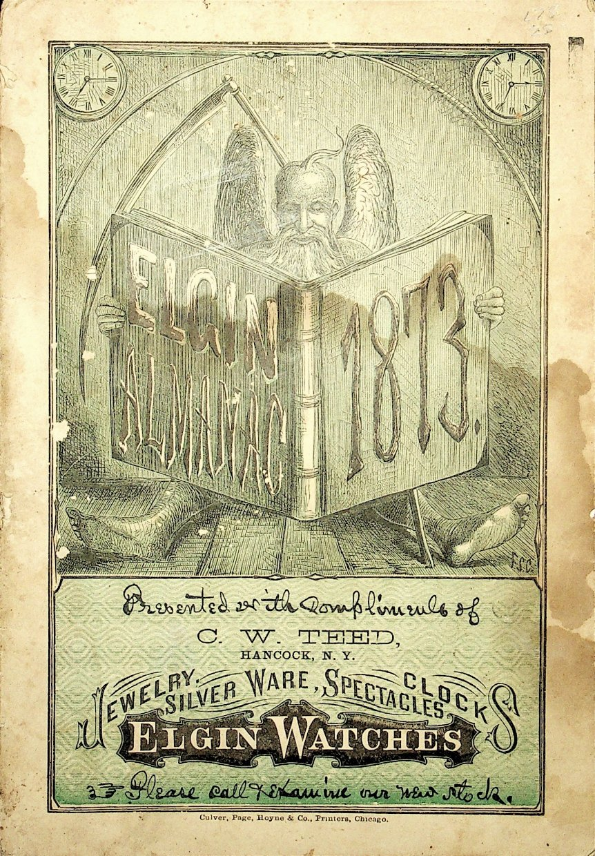 National Watch Co. Elgin Almanac 1873 Cover Image