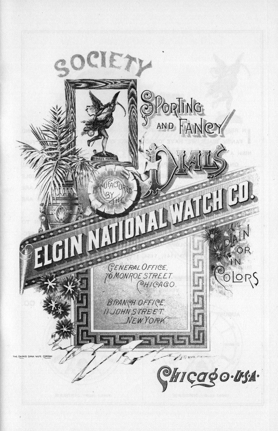 Society, Sporting & Fancy Dials Manufactured by the Elgin National Watch Co. Cover Image