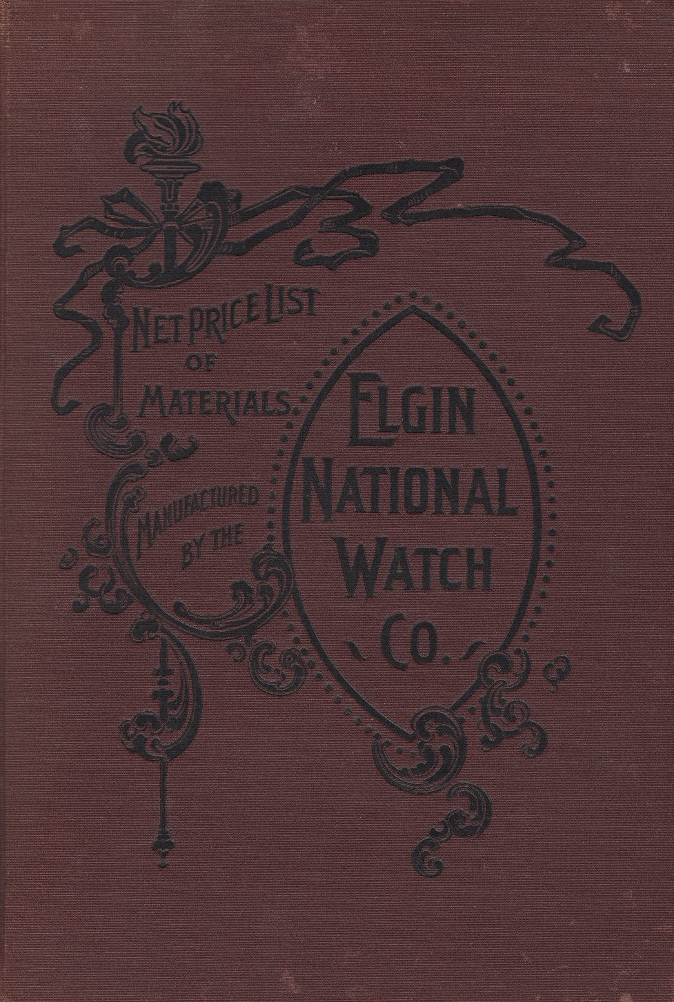 Net Price List of Materials Manufactured by the Elgin National Watch Co. (1896) Cover Image