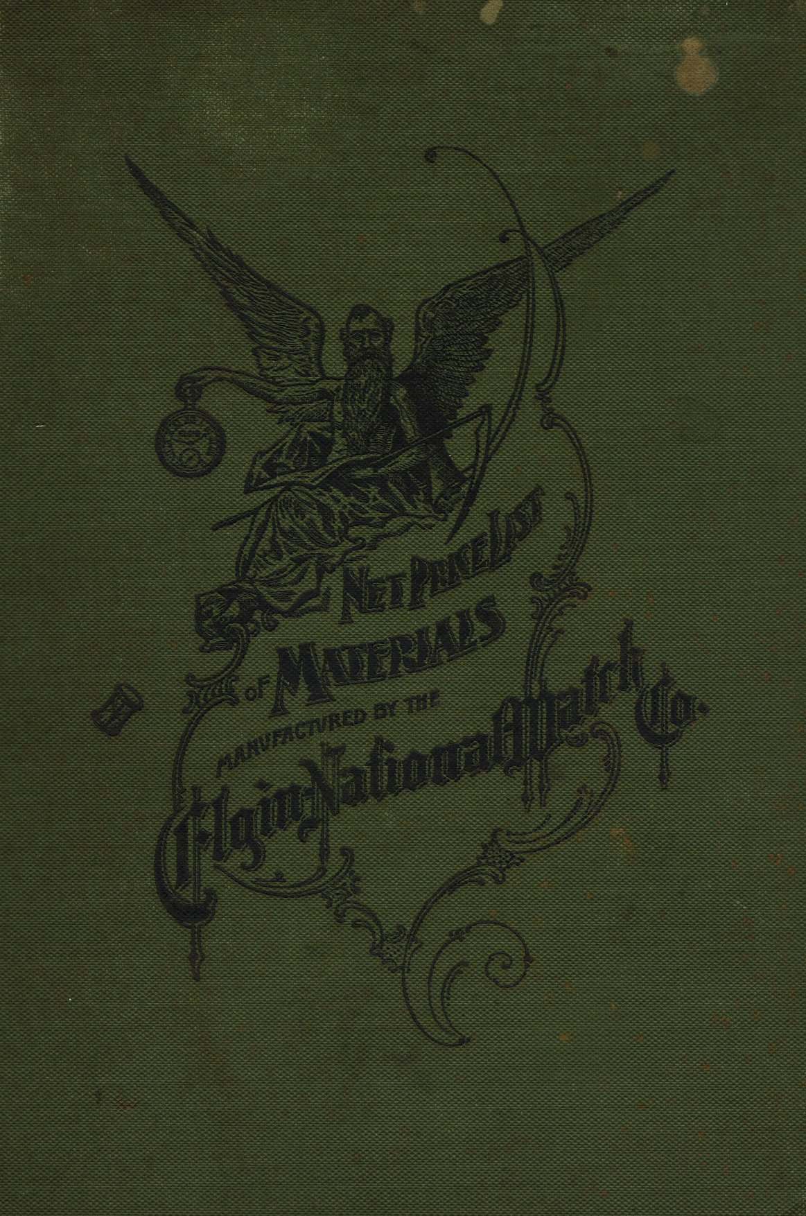 Net Price List of Materials Manufactured by the Elgin National Watch Co. (1915) Cover Image