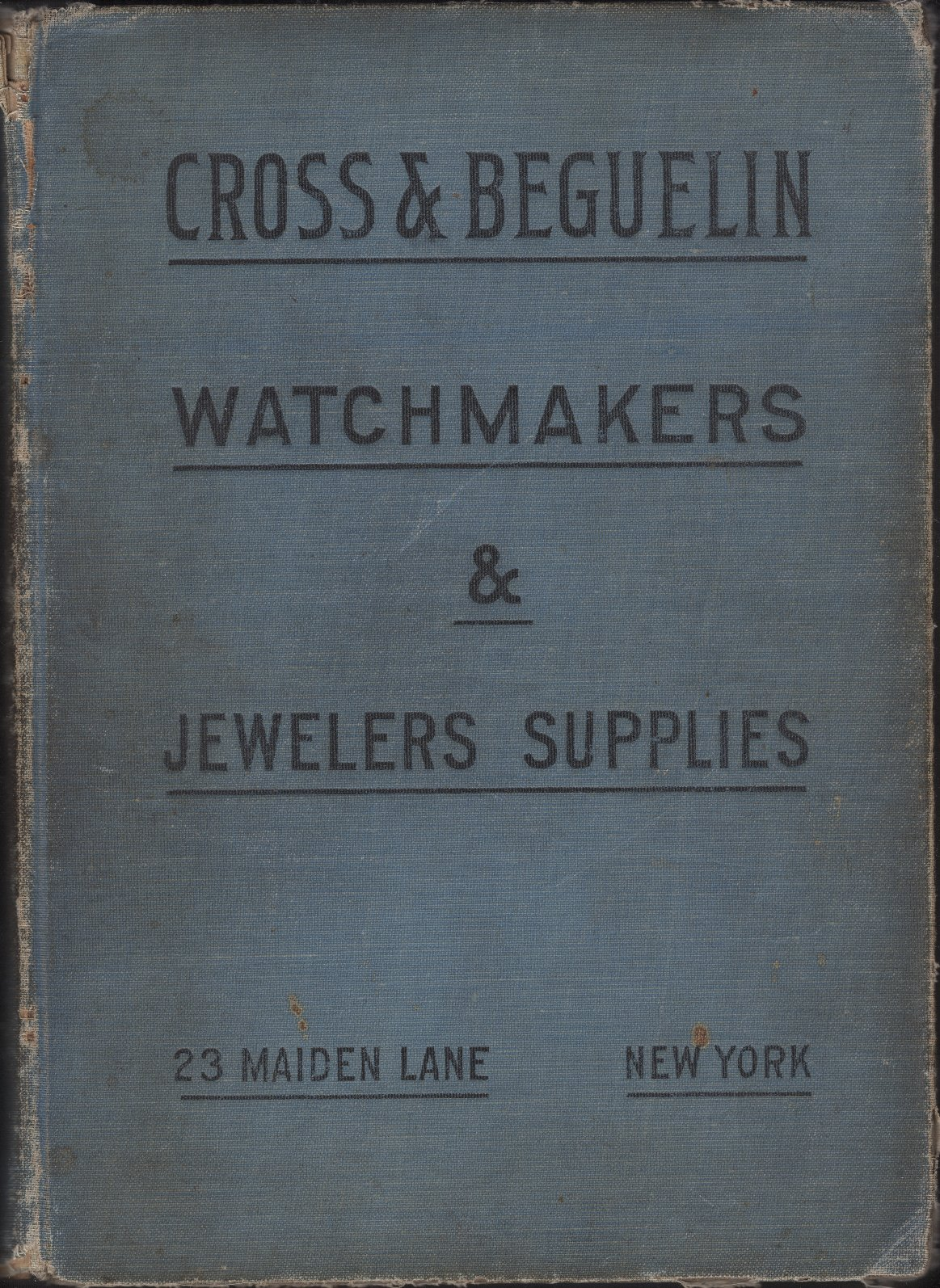 1910 Cross & Beguelin: Hamilton Parts Material Catalog Cover Image