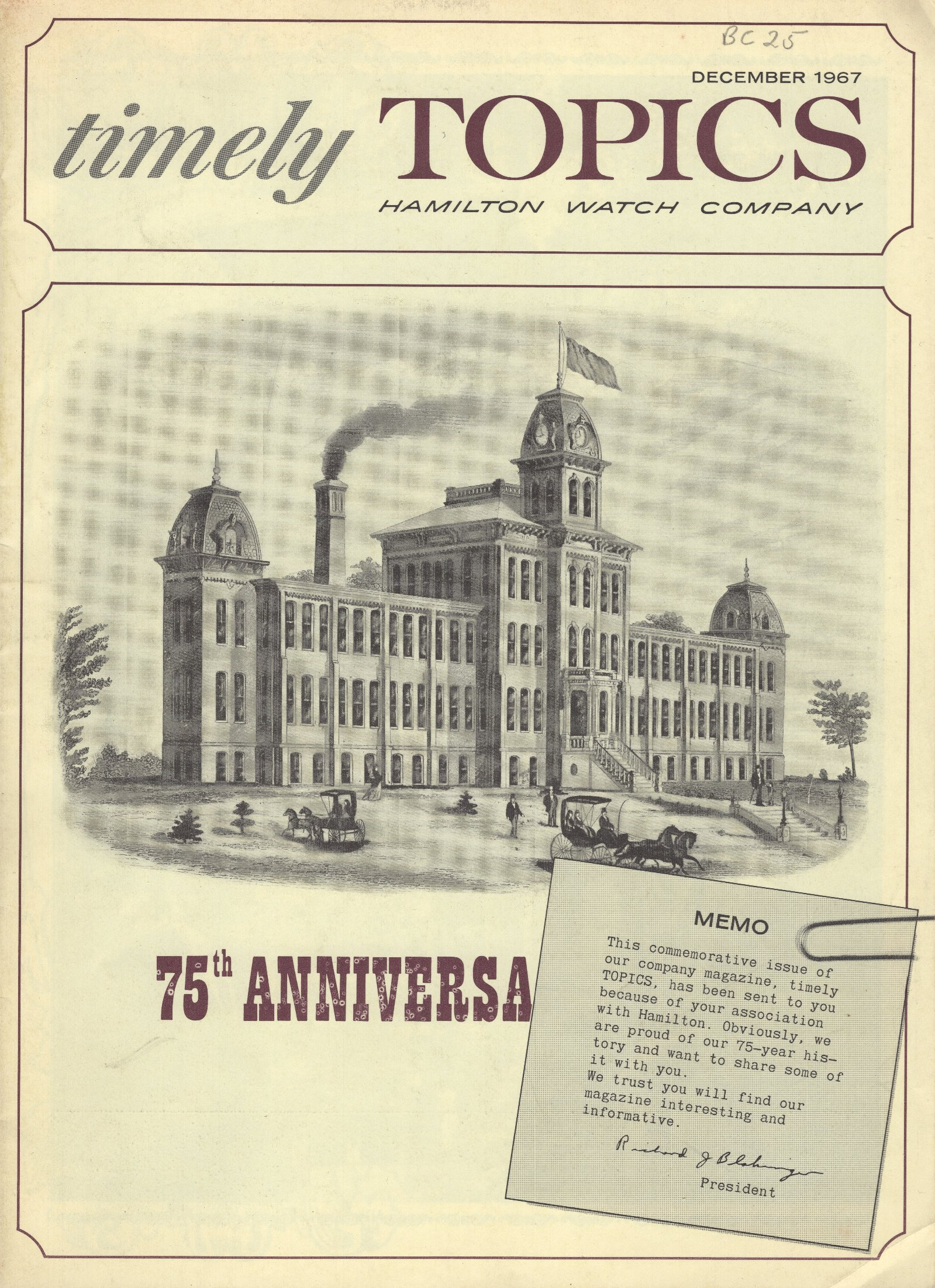 Timely Topics: 75th Anniversary Issue (December 1967) Cover Image