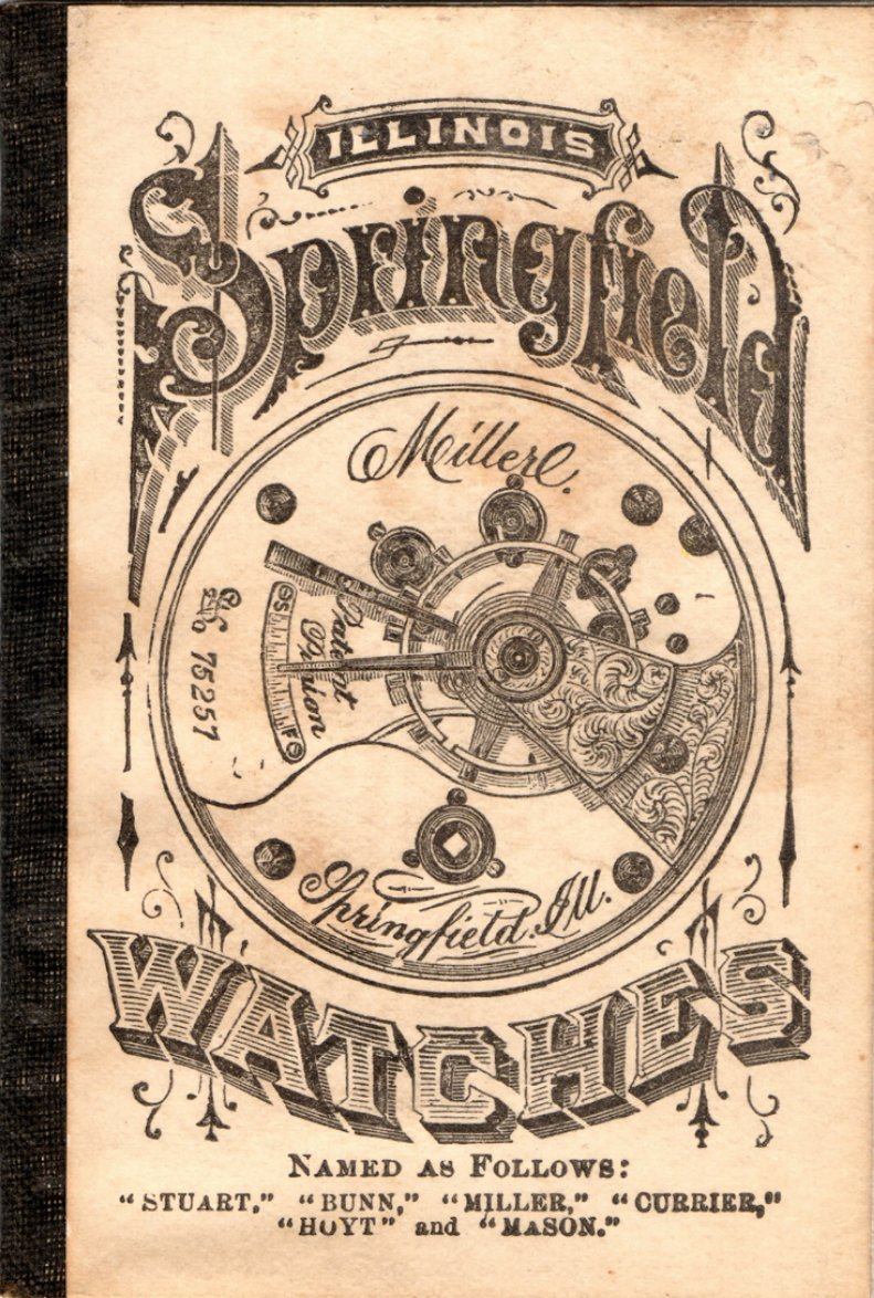 Illinois Springfield Watches Catalog (1875) Cover Image