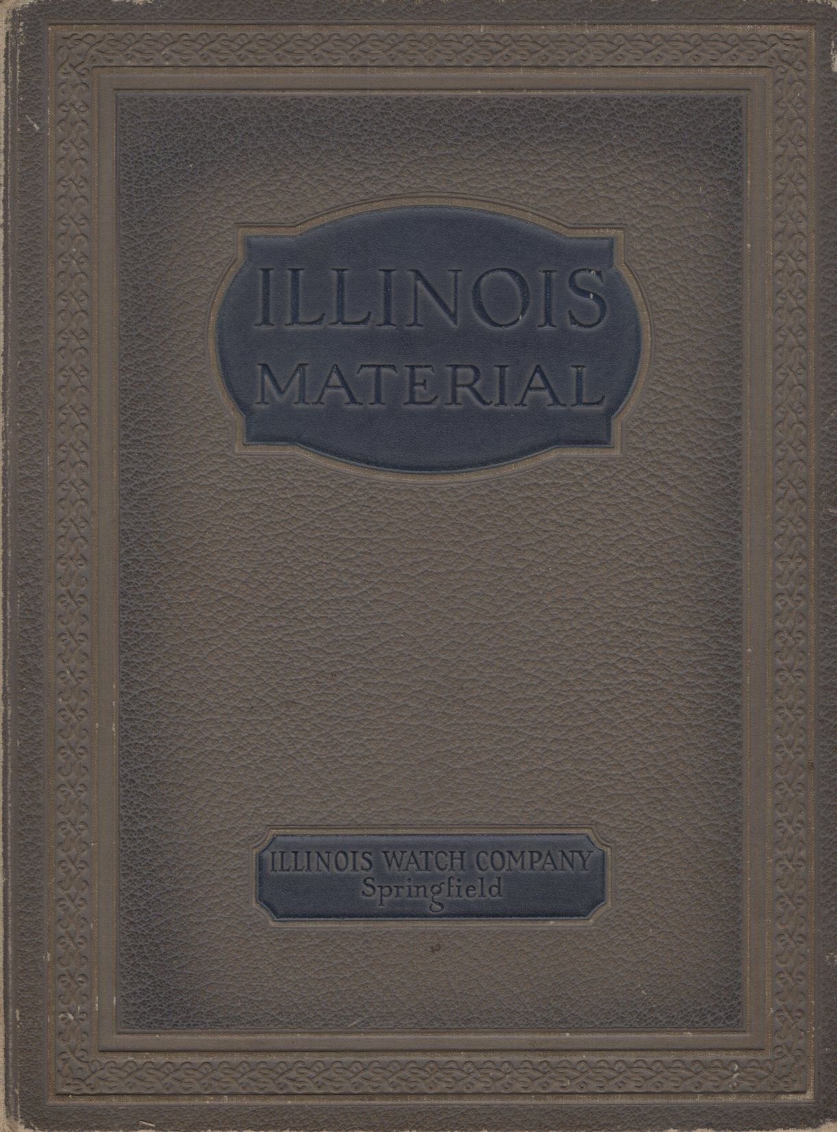 Illinois Watch Company 1923 Material Catalog Cover Image