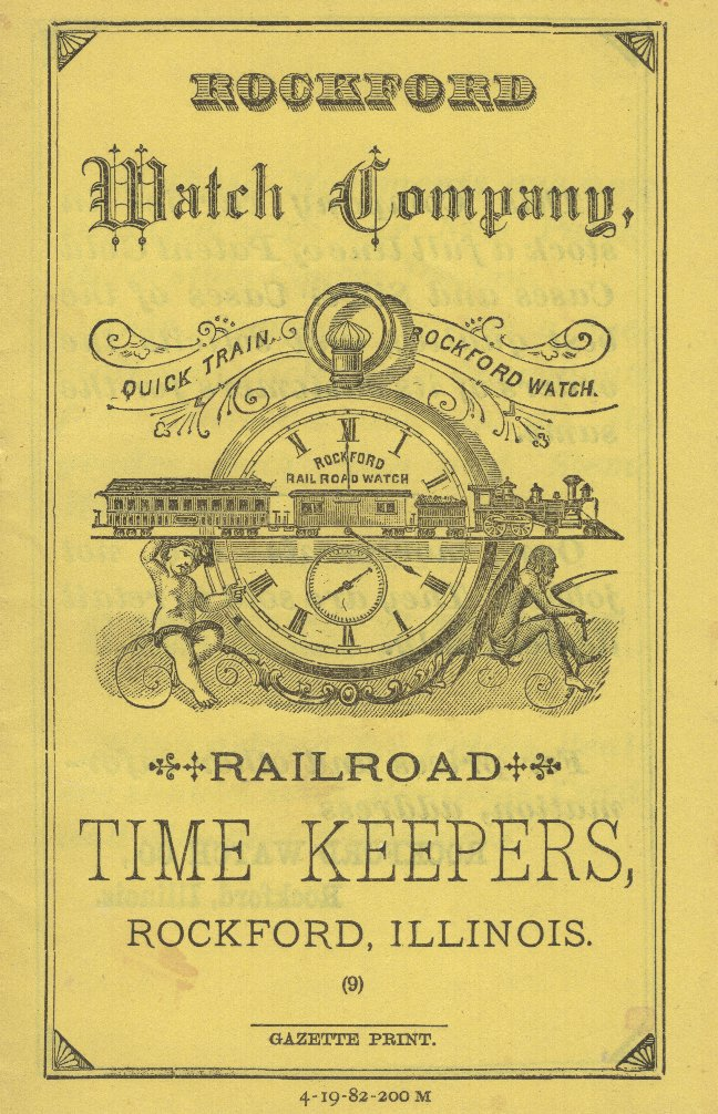 Rockford Watch Company Railroad Time Keepers Catalog, 1882 Cover Image