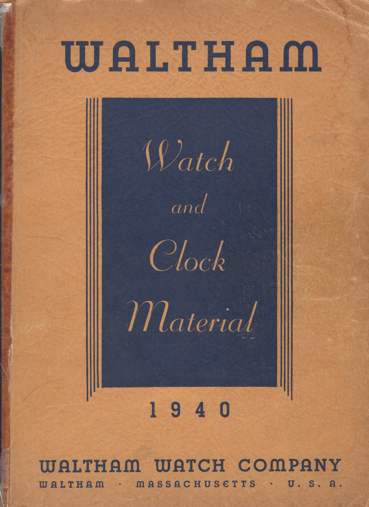 1940 Waltham Watch and Clock Material Catalog Cover Image